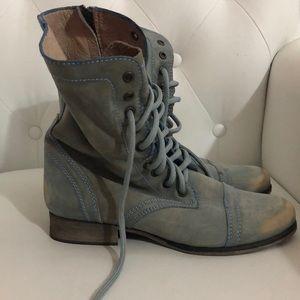 Steve Madden Women's Troopa Combat Boots, Blue